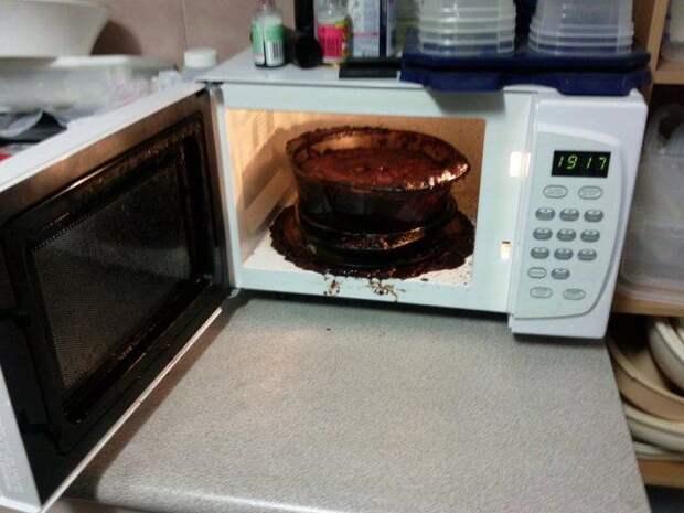 микроволновка неудачи провал, Microwave fail