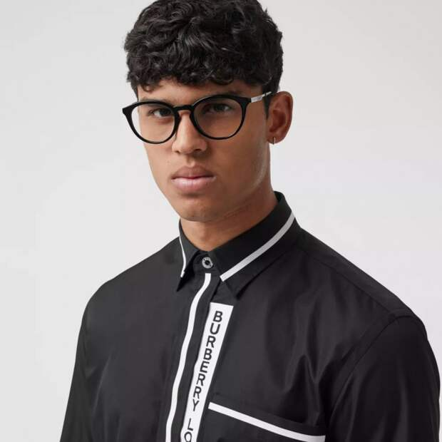 Детали мужских рубашек Burberry (трафик)