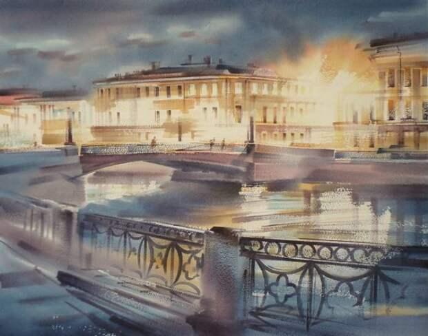 художник Константин Кузема акварель картины - 18