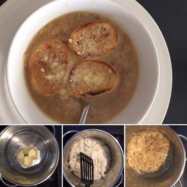Луковое счастье (рецепт лукового супа) еда без сала, кулинария, луковый суп, рецепт