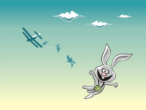 Лететь зайцем - плохая идея. /Фото: fishki.net.