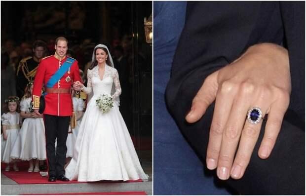 Помолвочное кольцо Кейт Миддлтон уменьшили накануне свадьбы