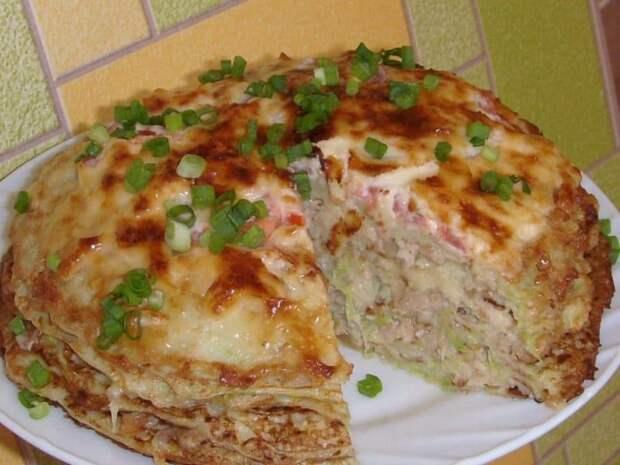 Кабачково-сырный тортик с мясом. Сытная закуска из сезонных овощей для любого застолья 2