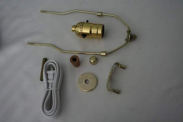 Настольная лампа из старой вазы (diy)