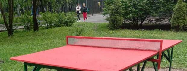 Во дворе дома на Чичерина покрасили теннисный стол