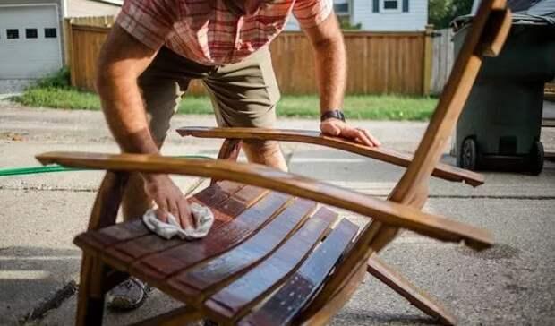 Как чистить деревянную садовую мебель - главные советы по сохранению дерева в целости и сохранности