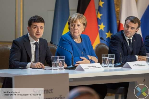 Зеленский, Макрон и Меркель проведут переговоры по урегулирования конфликта на Донбассе