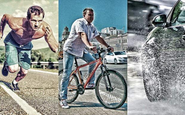 Спринтер против велосипедиста и автомобилиста: онлайн-гонка завершена