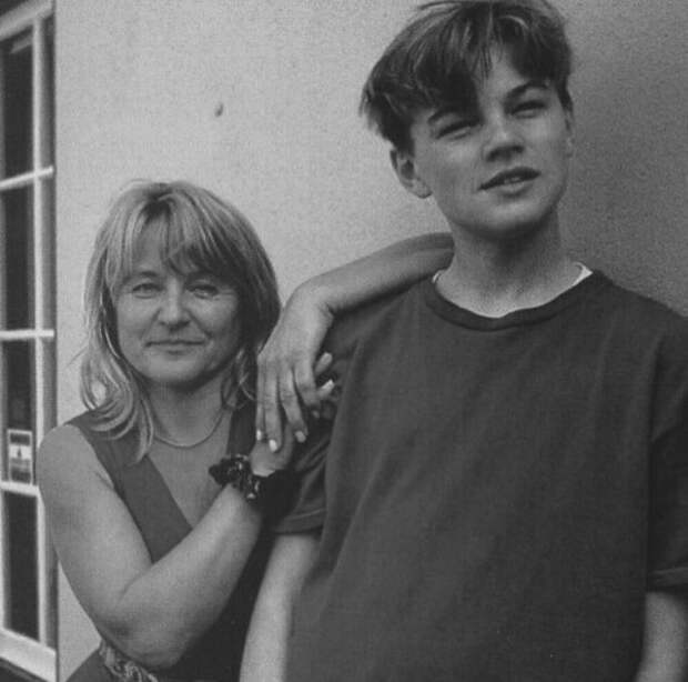 Леонардо Ди Каприо и его мама Ирмелин Инденбиркен