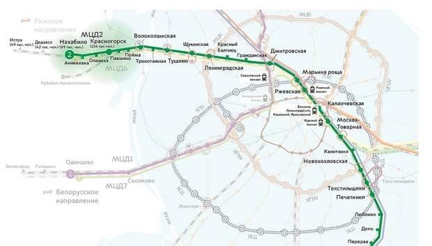 Пассажиры попросили упростить схему метро с указанием первых МЦД