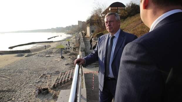 Голубев раскритиковал власти Таганрога занерасторопность при ремонте набережной