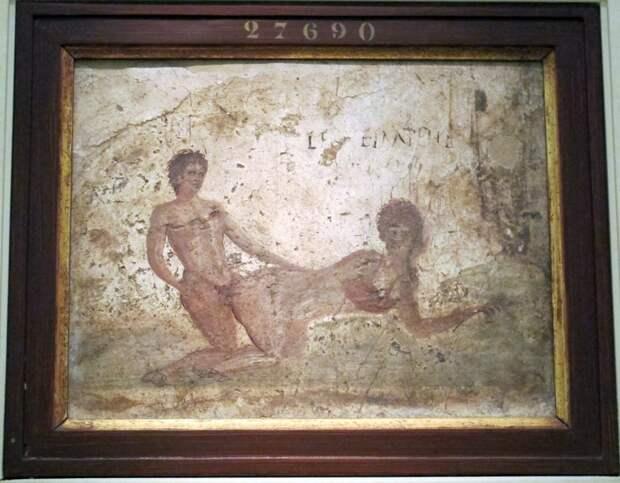Freska v «Sekretnom kabinete» Natsionalnogo arheologicheskomgo muzeya Neapolya