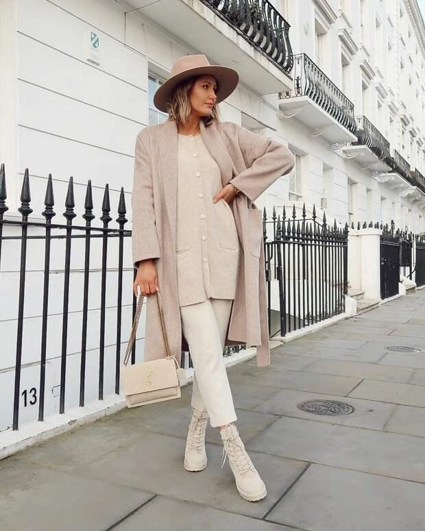 18 стильных образов в стиле минимализм зима 2021