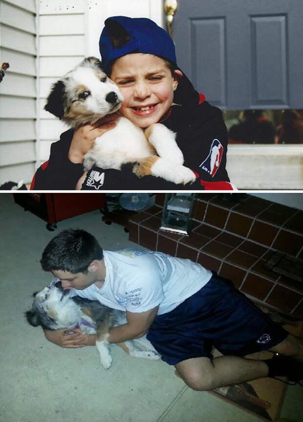 Первый и последний день вместе до и после, друзья, собаки, фото