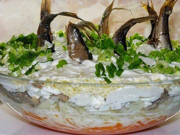 салат рыбки в пруду с фото