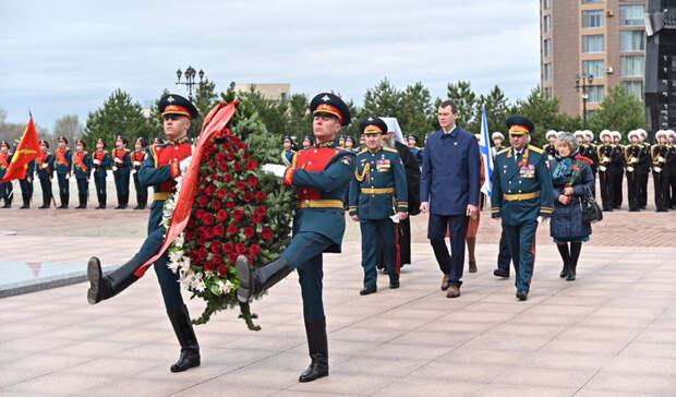 В канун Дня Победы Михаил Дегтярёв принял участие в памятных мероприятиях