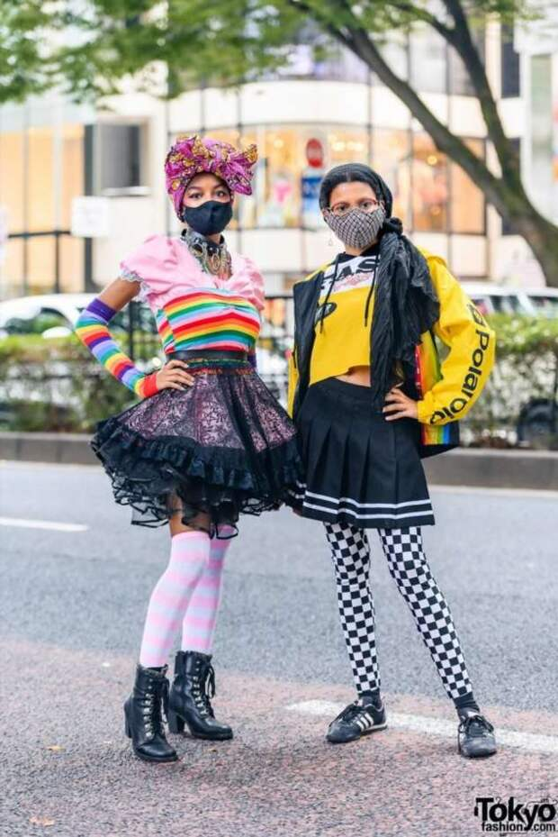 Модники и модницы на улицах Токио