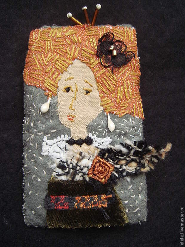 Вы только посмотрите, с какой фантазией они сделаны!  Текстильные броши Елены Аксеновой.