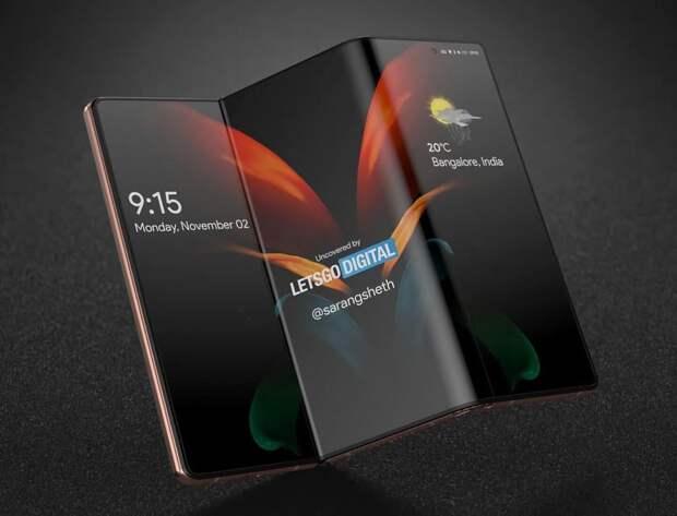 Samsung на этой неделе представит экран S-Foldable для планшета Galaxy Z Fold Tab, который будет складываться с двух сторон