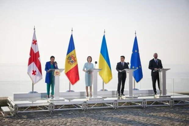 «Собрались три безнадеги...» — сеть о декларации Грузии, Украины и Молдавии