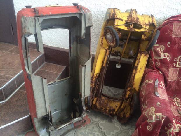 Москвич игрушки, педальные машинки, реставрация