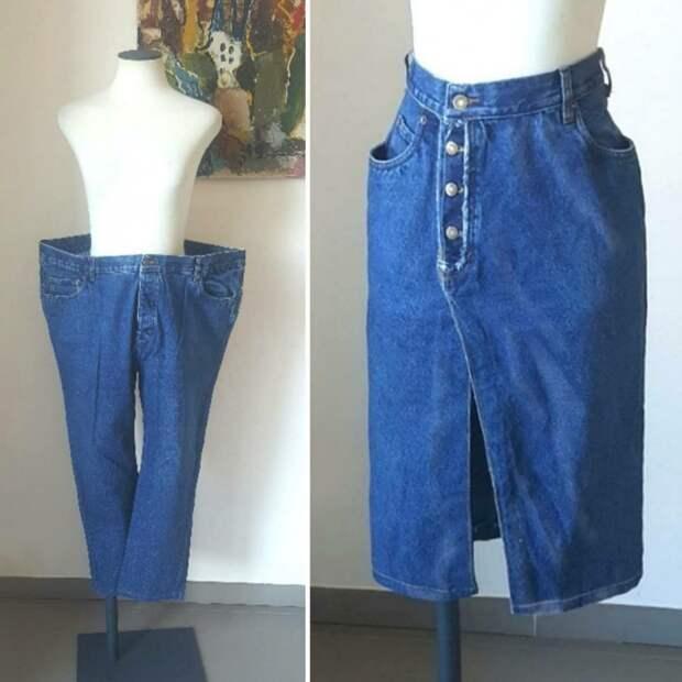 Необычная юбка из джинсов