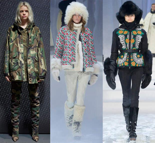 Принты на модных куртках
