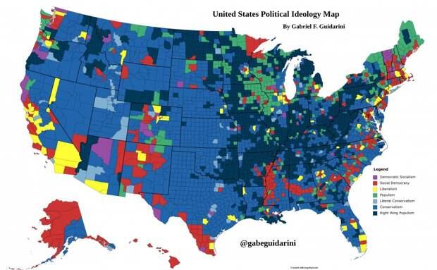 Идеологическая карта Америки