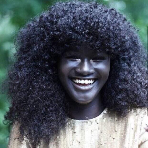 Худия Диоп — модель с самой темной в мире кожей