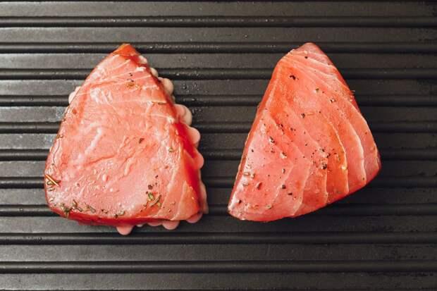 Красное мясо и красная рыба с пищевыми добавками