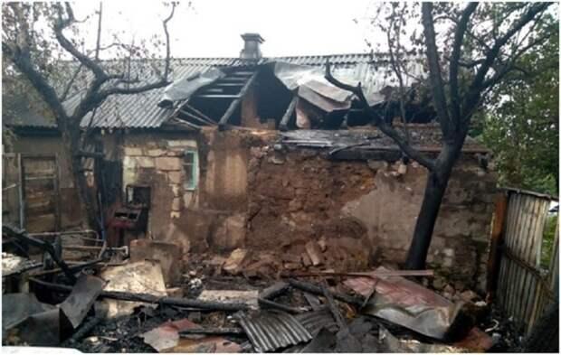 В н.п. Калиново произошел масштабный пожар