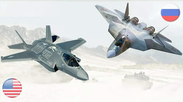Российский летчик-испытатель заявил, что у Су-57 гораздо выше шансы победить в бою с F-35