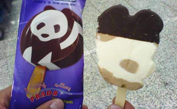 Пожалели шоколада на панду - получите белого медведя! еда, кругом обман, продукты