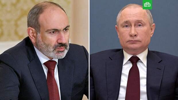 Пашинян заявил, что обратился к Путину с просьбой о военной помощи