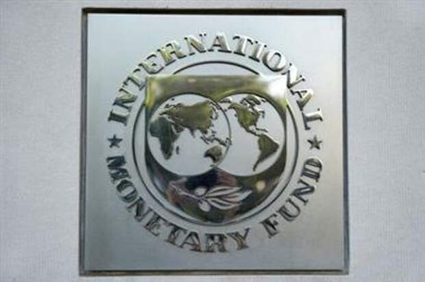 International Monetary Fund (IMF) logo is seen at the IMF headquarters building during the IMF/World Bank annual meetings in Washington, U.S., October 14, 2017. REUTERS/Yuri Gripas