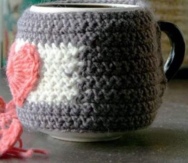 Грелка на чашку связанная крючком