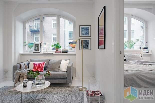Интерьер квартиры в скандинавском стиле, фото Alvhem