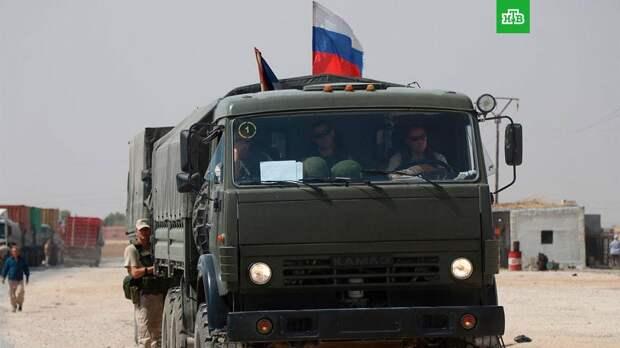 В Минобороны рассказали, почему российский патруль развернул колонну армии США в Сирии