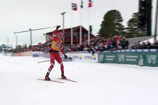 Лыжник Большунов впервые в карьере стал чемпионом мира