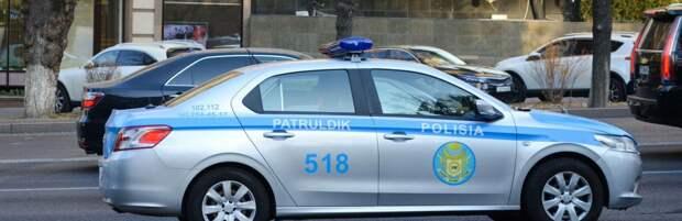 Потерянный номерной знак вернули полицейские водителю в Алматинской области