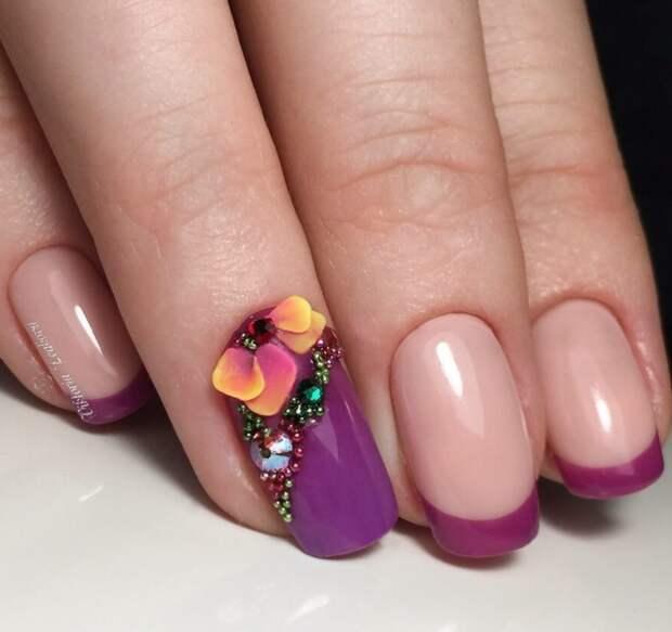 Маникюр с гелевой лепкой — изысканность на каждом пальчике!