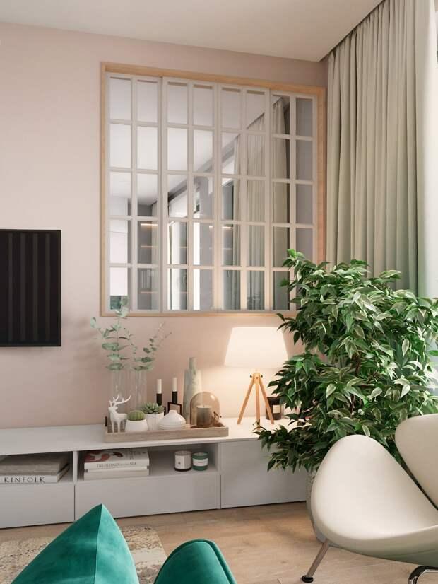 Если вы любите зеленый...Современная трехкомнатная квартира с зелеными акцентами