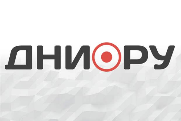 Украинцы сожгли флаг России для поддержки Белоруссии