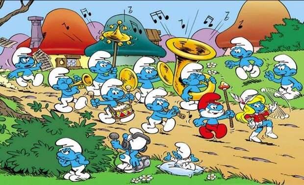 Осмурфительно-страшные слухи распространяются о синих человечках еще с 1980-х годов