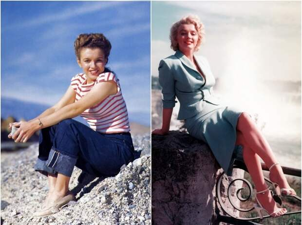 Известные и знаменитые женщины блондинка брюнетка Мерилин Монро