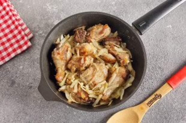 Чахохбили из курицы с болгарским перцем - фото шаг 5