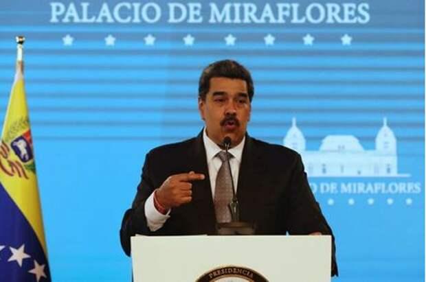 Venezuela's President Nicolas Maduro speaks during a news conference in Caracas, Venezuela, February 17, 2021. REUTERS/Fausto Torrealba NO RESALES. NO ARCHIVES