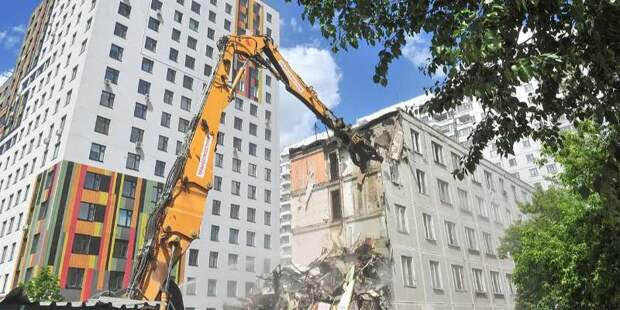Программу реновации в Москве реализуют с использованием технологии «умного сноса»