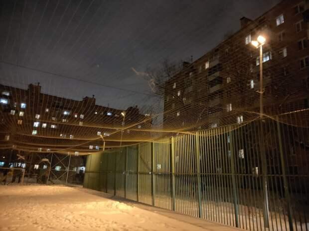 Во двор на Рязанском проспекте вернули освещение