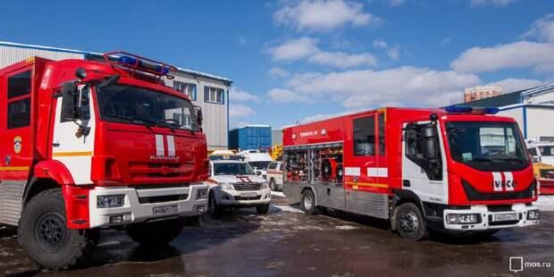 Пожарные локализовали возгорание на участке газопровода в Мытищах. Фото: mos.ru